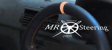 Para Renault Megane I 1995-2003 Cubierta del Volante Cuero Negro + Correa de Color Beige