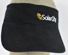 Black SolarCity Solar Energy Equipment Logo Embroidered Visor hat cap Adjustable