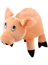 Plush Adults Pig Funny Farmyard Animal Fancy Dress Farm Pigglet Hat Accessory