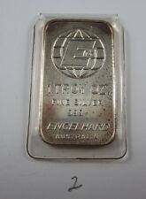 Original 1oz ENGELHARD AUSTRALIA silver bar in issued plastic sleeve - Item No 2