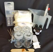 SOY WAX CANDLE MAKING KIT, 4 CANDLES, MELTS, 3 x FRAGRANCE, FREE POST