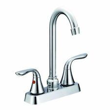 Aqua Plumb Two Handle Goose Neck Bar Faucet 1822025 Chrome Plated
