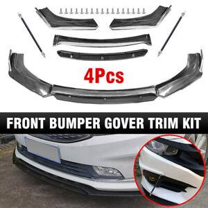 Carbon Fiber Front Bumper Lip Spoiler+Strut Rods For Honda Accord CRV Fit Subaru
