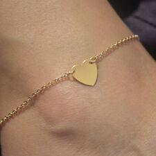 "Gold Plated Heart Shape Women Ankle Bracelet Anklet Chain  ""NEW""  GOLD"