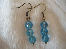 Handcrafted Blue Quartz Earrings