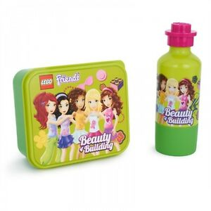LEGO FRIENDS SMALL LUNCH BOX & DRINKS BOTTLE SET BRAND NEW GREAT FOR SCHOOL