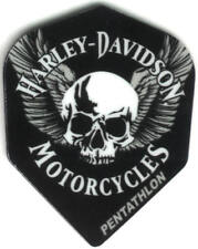 Harley Davidson Skull with Wings Dart Flights: 3 per set