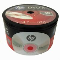 200-Pack HP 16X Logo Blank DVD-R DVDR Recordable Disc Media 4.7GB Shrink Wrapped