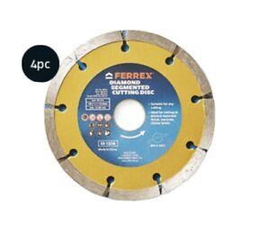 "125mm 5"" Turbo Diamond Cutting Discs Blade Disk Marble Tile Ceramic Concrete 4pk"