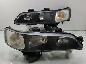 JDM 1998-02 Honda Accord CF4 CF6 Front XENON HID BLACK Headlight Lights Lamp OEM