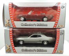 1:43rd Scale Die-Cast 2 - Yat Ming Plymouth GTX /Chevrolet Corvair Monza DS-GB