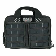 G.P.S. Tactical Quad + 2 Pistol Range Bag Shooting Gun Travel Bag BLACK-