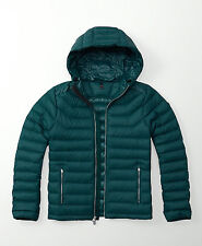 Mens Abercrombie & Fitch All Weather Quilted Hoodie Puffer Jacket Size XL