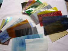 Sonderpreis 20 Tiffany - Glasabschnitte 10 x 15 cm, Spectrum, Bullseye, Uro, Spi