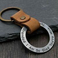 Custom Keychain Personalized Keyring for Boyfriend Gift for Him Father's Day