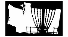 Disc Golf Vinyl Sticker Decal WA State Basket