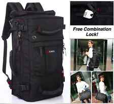 "40L 28"" Large Backpack Travel Bag +Laptop Cushion Zone Carry Shoulder Women Men"