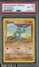 1999 Pokemon German 1st Edition #52 Machollo PSA 8 NM-MT