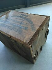 Rare 1800's John L Lewis Wholesale Druggist Wood Shipping Crate w/Original Can