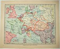 Vintage Longmans Map of Central Europe in 1789. Antique