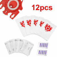 12pcs/set For Miele FJM High Filtration Type Vacuum Cleaner Hoover Dust Bags Kit