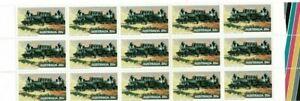 Stamps 1978 Australia 20c train in marginal block of 15 including autotrons, MUH