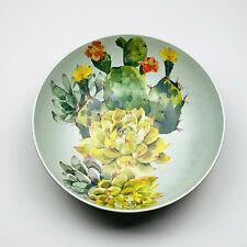 "Desert Cactus Succulents Melamine 12"" Serving Bowl"
