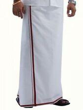 Men's Cotton Dhoti White Dhoti Handloom Cotton Vesti White, 1.27 x 2 Meters