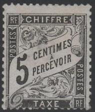"FRANCE STAMP TIMBRE TAXE N° 14 "" TYPE DUVAL 5c NOIR "" NEUF xx TB  SIGNE J652"