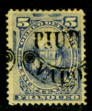 "PERU 1884 PROVISIONAL ISSUES Pacific War -5c ""PIURA VAPOR"" ovpt Sc#14N15 mint MH"