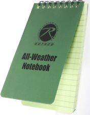 "Olive Drab All Weather Waterproof Notebook 3"" x 5"""