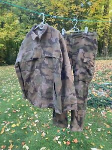 LL Bean Men's Maine Guide Camo Wool Coat & Pants, Wind Break material, XL Tall