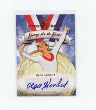 Leaf Sports Heroes 2013 #GG-OK1 Olga Korbut Autograph  U.S. Olympic Team