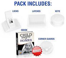 15 Pcs Magnetic Cabinet Locks Baby and Child Safety Baby Set 8 Locks 2 Keys Book
