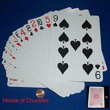 Jumbo Pop Eyed Popper Magic Card Trick Deck - Red Back - Loftus