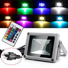 Nuevo 10W RGB impermeable al aire libre LED luz de inundación Paisaje Lámpara con control remoto