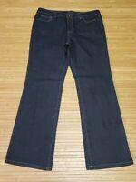 Nine West Women's Size 14 Indigo Santa Monica Bootcut Stretch Jeans 36x32 EUC