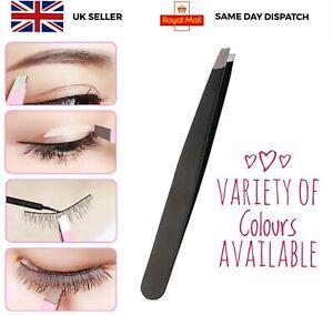 Professional Eyebrow Tweezers Slanted Stainless Hair Plucker Remover UK Seller