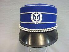 Tschako für Musiker eines Spielmannszug Größe 55 blau Mütze Kappe Hut