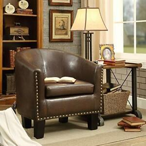 Barrel Club Chair, Chocolate Brown (Chocolate Brown)
