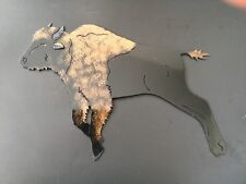 LARGE HEAVY METAL BUFFALO WALL HANGING QUALITY LASER , PAINT AND GLOSS