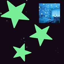 84x Estrellas Leuchtsticker Estrellas luminosas fluorescente ilumina en la noche
