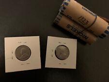 🇨🇦1923 &1924CANADA 5 Cent Beaver Nickel Coins VF(2 Coins)🇨🇦
