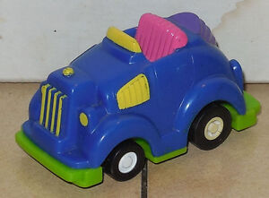 1992 Wendys Kids Meal Toy Speed Bumpers Blue Car