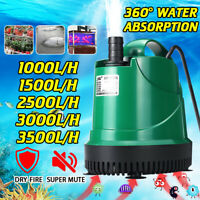 1000-3500 LPH Aquarium Submersible Water Pump Water Feature Pond Fountain Pump