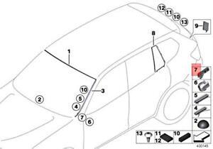 Genuine BMW X3 X4 M F25 F26 X3 18d 18i 20dX 20i Clip Bottom Right 51317306206