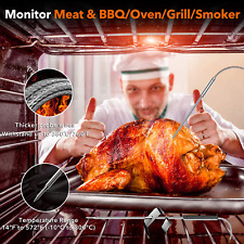 New listing Wireless Meat Thermometer, Yunbaoit Digital Remote Food Cooking Meat Thermometer