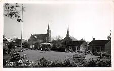 ST CHARLES de CAPLAN QUEBEC CA~CAMPS CABINS HOTEL GASPESIEN~REAL PHOTO POSTCARD