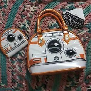 Star Wars BB8 Loungefly 10 Inch Handbag & Matching Change Purse