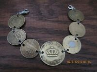 Vintage token Coin charm bracelet Local parking & More